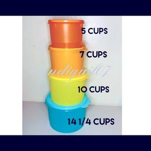 Tupperware Stacking Canisters